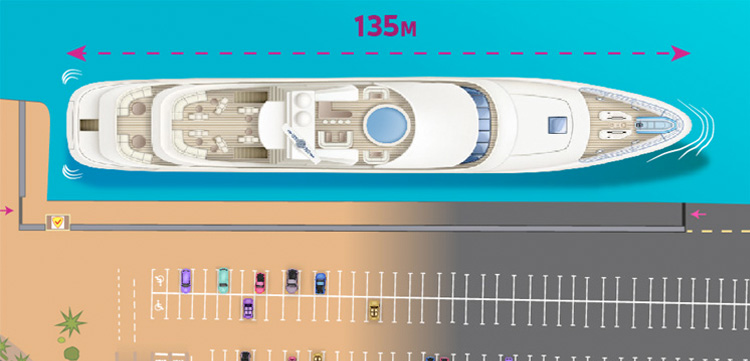 135m Superyacht Berth For Sale